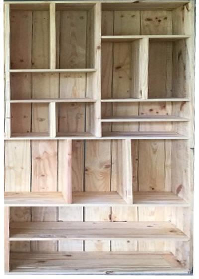 kệ sách gỗ thông Ballet KG03
