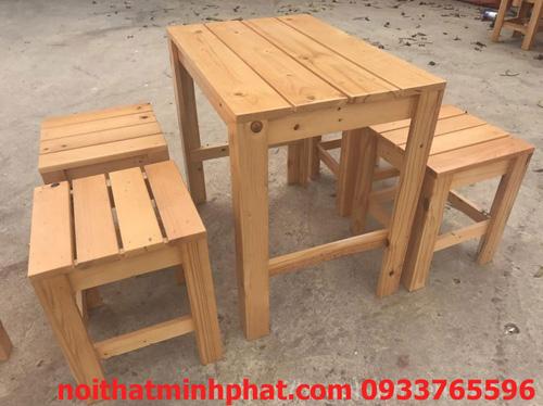 bàn ghế gỗ thông ballet BG001