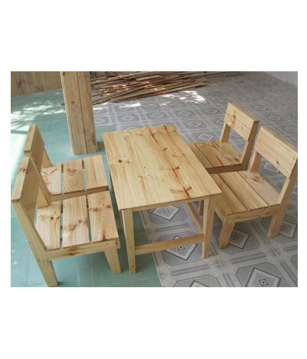bàn ghế gỗ thông ballet BG03