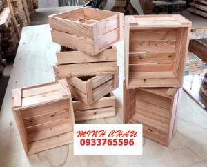 Thùng gỗ đựng trái cây